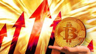 上昇する仮想通貨ビットコイン